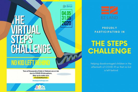 "EZ LAND TAKES PART IN ""THE VIRTUAL STEPS CHALLENGE 2020"""